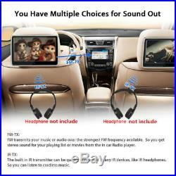 10.1 LCD HD Touch Screen Auto Car Headrest Monitor DVD Player USB/SD/IR/FM/Game
