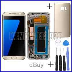 For Samsung Galaxy S7 Edge G935F LCD Display+Touch Screen+frame gold+cover+tool