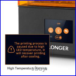 Longer Orange 10 Resin 3D Printer LCD with 2.8 Color Touch Screen 98x55x140mm
