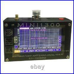 Mini1300 HF/VHF/UHF Antenna Analyzer 0.1-1300MHz with 4.3 TFT LCD Touch Screen