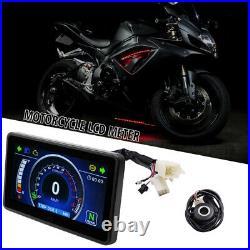 Motorcycle ATV Full LCD Screen Speedometer Digital Odometer One-touch Tachometer