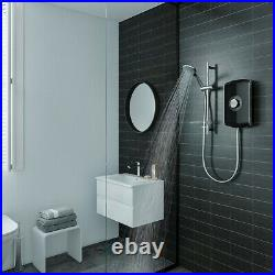 Triton Amore Gloss Black 9.5KW Electric Shower LCD Digital Touch Screen & Kit